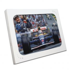 Nigel Mansell Signed World Champion Photo In Gift Box