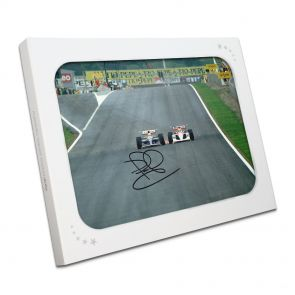 Nigel Mansell Signed Barcelona Grand Prix Photo In Gift Box