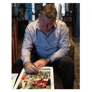 Norman Whiteside Signed Manchester United Photo In Gift Box