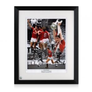 Norman Whiteside Signed Manchester United Photo Framed
