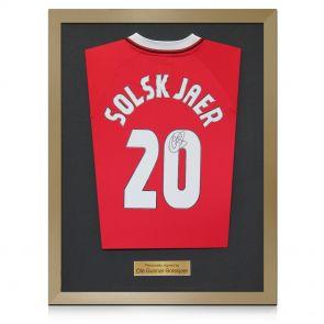 Ole Gunnar Solskjaer Signed 1999 Manchester United Champions League Shirt
