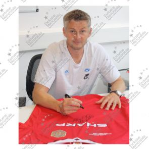 Teddy Sheringham And Ole Gunnar Solskjaer Signed 1999 Manchester United Shirt - Damaged Stock