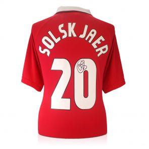 Framed Ole Gunnar Solskjaer Signed 1999 Manchester United Champions League Shirt