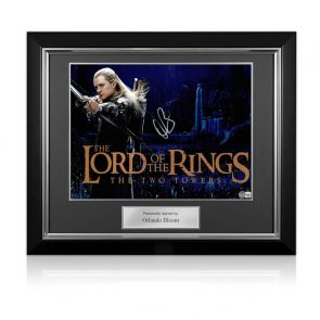 Orlando Bloom Signed The Lord Of The Rings Photo. Deluxe Frame