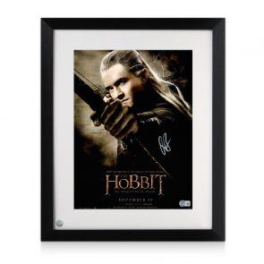 Orlando Bloom Signed The Hobbit Poster. Framed