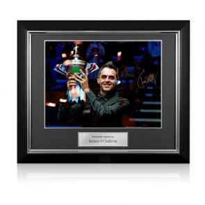 Ronnie O'Sullivan Signed Snooker Photo: Six-Time World Champion. Deluxe Framed
