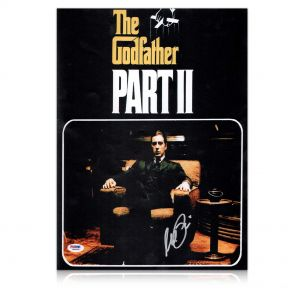 Al Pacino Signed Godfather 2 Film Poster. In Gift Box