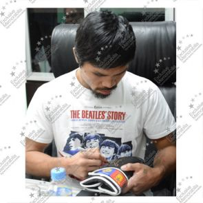 Manny Pacquiao Signed Black Boxing Glove
