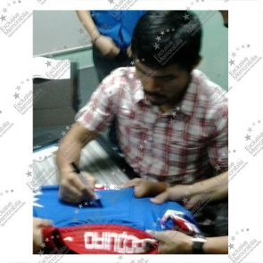 Manny Pacquiao Signed Boxing Trunks: Vs Timothy Bradley