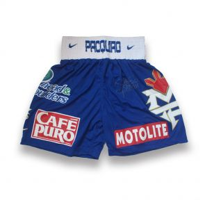 Manny Pacquiao Boxing Trunks v Shane Mosley