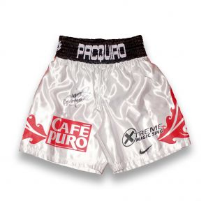 Manny Pacquiao Signed Boxing Trunks: Vs David Diaz