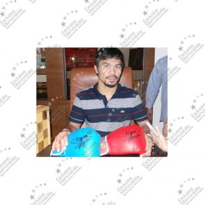 Manny Pacquiao Signed Blue Boxing Glove