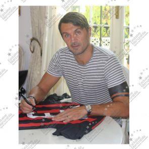 Paolo Maldini Signed 2008-09 AC Milan Home Shirt