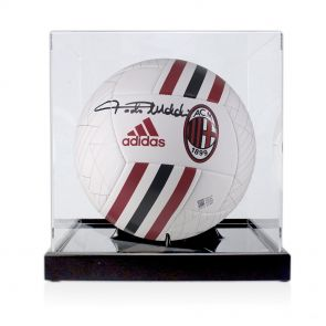 Paolo Maldini Signed Football In Display Case