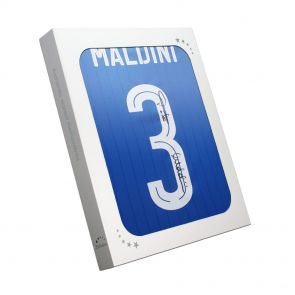 Paolo Maldini Signed Italy Shirt In Gift Box