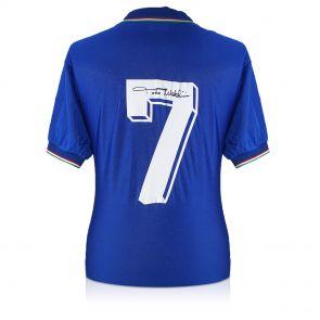 Paolo Maldini Signed Italy Shirt