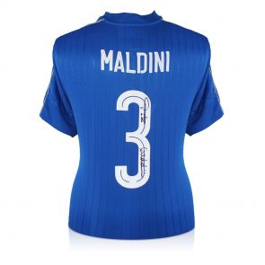 Paolo Maldini Signed 2016-17 Italy Home Shirt In Gift Box
