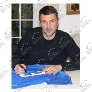 Paolo Maldini Signed Italy Football Shirt 2016-17. In Gift Box