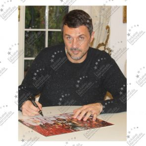 Paolo Maldini Signed AC Milan Photo: Champions League Winner. Framed