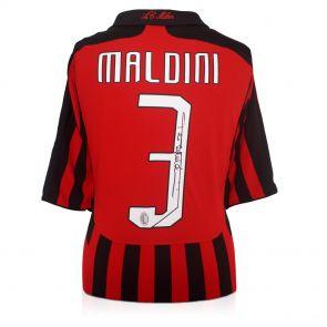 Paolo Maldini signed Milan jersey 2008