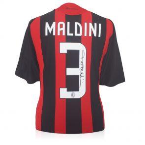 Maldini signed Milan jersey