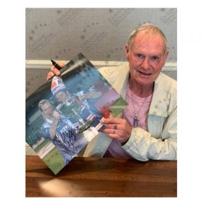 Paul Gascoigne And Ally McCoist Signed Rangers Photo. Framed