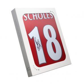 Paul Scholes Signed Manchester United Shirt 1998. Gift Box