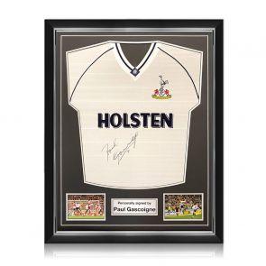 Paul Gascoigne Signed Spurs 91 FA Cup Semi Final Shirt. Superior Frame