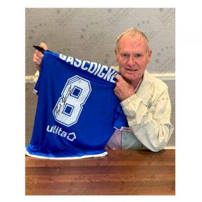 Paul Gascoigne Signed Rangers Shirt. Deluxe Framed