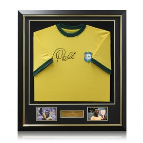 Framed signed football memorabilia