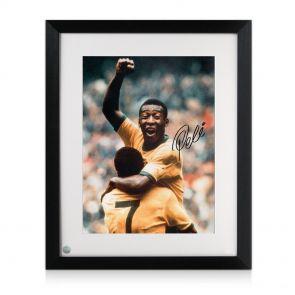 Framed Pele Signed Photo