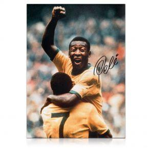 Pele Signed Photo: With Jairzinho. In Gift Box