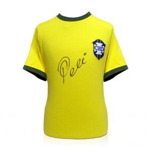 Pele Signed Brazil 1970 Football Shirt In Gift Box
