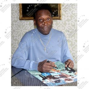 Pele Signed Photo: With Bobby Moore