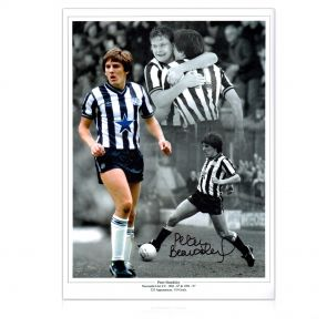 Peter Beardsley Signed Newcastle United Photo In Gift Box