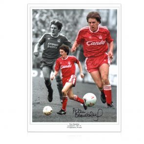Peter Beardsley Signed Liverpool Photo In Gift Box
