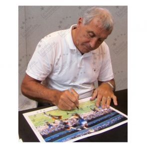 Peter Shilton Signed England Photo: The Hand Of God Framed