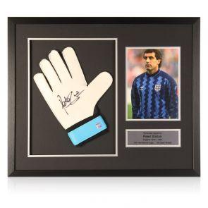 Peter Shilton Signed Glove England Presentation. Framed