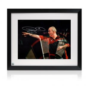 Framed Phil Taylor Signed Photo
