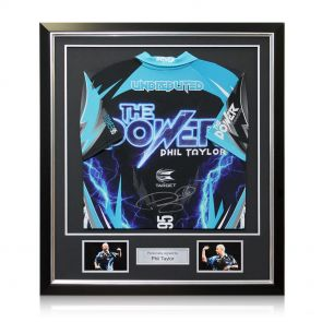 Framed Signed Phil Power Darts Shirt