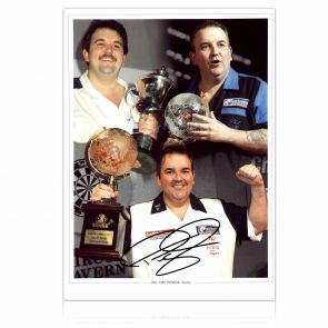 Phil Taylor Signed Montage Photograph