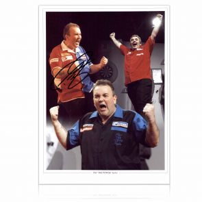 Phil Taylor Signed Photograph: Feel The Power