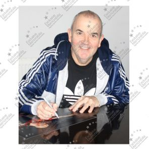 Phil Taylor Signed Darts Photo: At The Oche