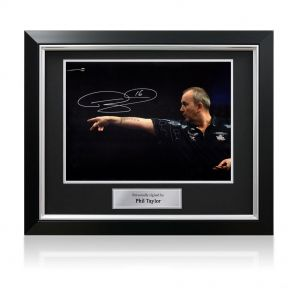 Signed framed Phil Taylor photo