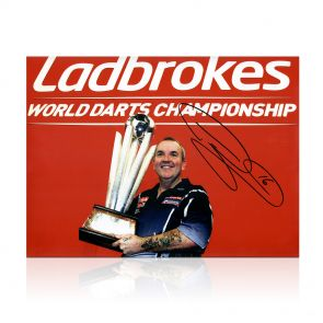 Phil Taylor Signed Darts Photo