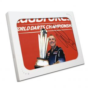 Phil Taylor Signed Darts Photo In Gift Box