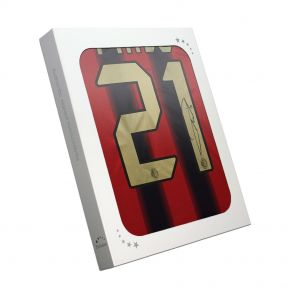 Andrea Pirlo Signed AC Milan Home Shirt 2004/05 In Gift Box