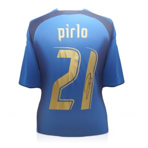 Pirlo Signed Italy World Cup Jersey