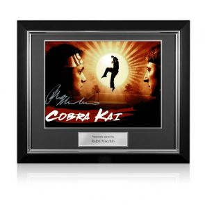 Ralph Macchio Signed Cobra Kai Poster. Deluxe Frame