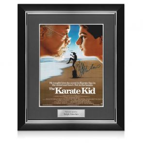 Ralph Macchio Signed The Karate Kid Poster. Deluxe Frame